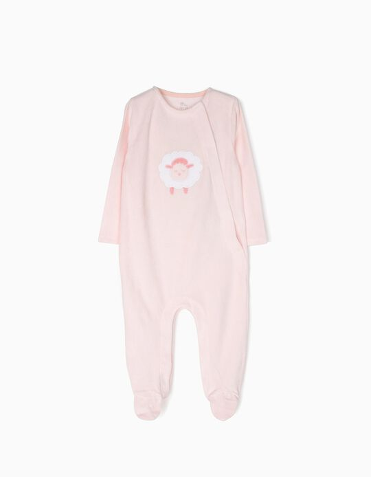 Babygrow Veludo Sheep Rosa