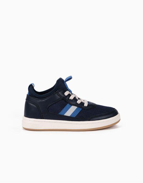 Zapatillas con Patuco de Neopreno para Niño, Azul