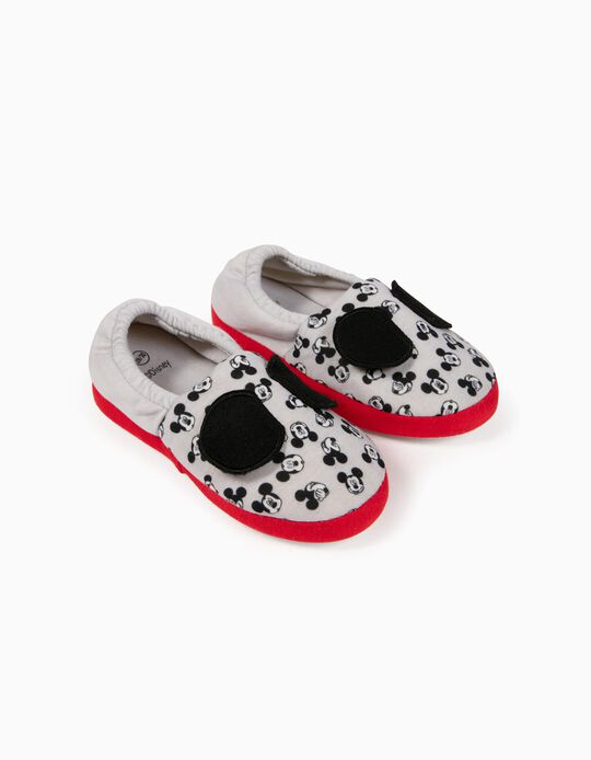 Slippers for Boys, 'Mickey Mouse', Grey/Red