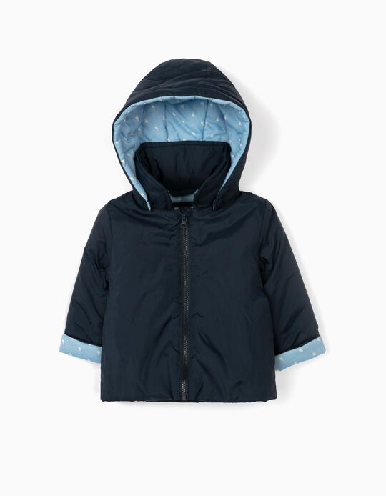 Hooded Parka for Newborn Baby Boys, Blue