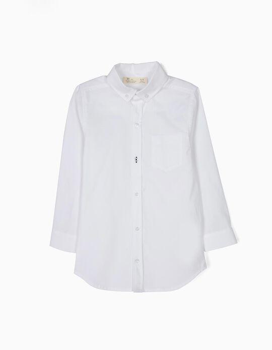 Camisa Com Bolso Menino Branca  B&S