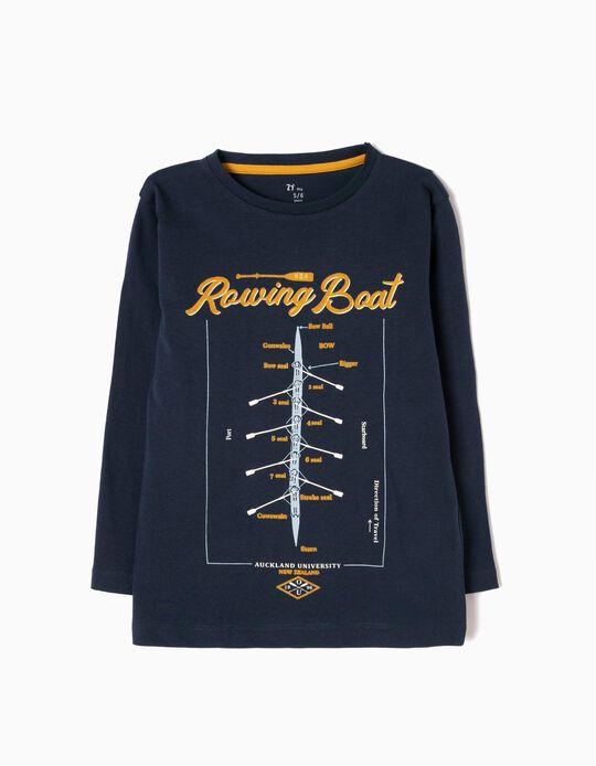 T-shirt Manga Comprida Rowing Boat