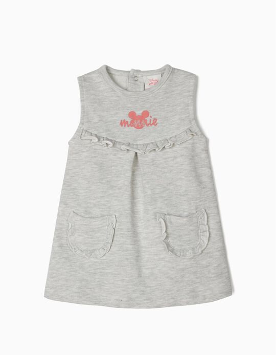 Vestido para Recém-Nascida 'Minnie', Cinza Mesclado