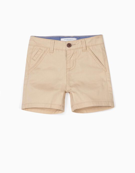 Chino Shorts for Baby Boys, 'B&S', Beige