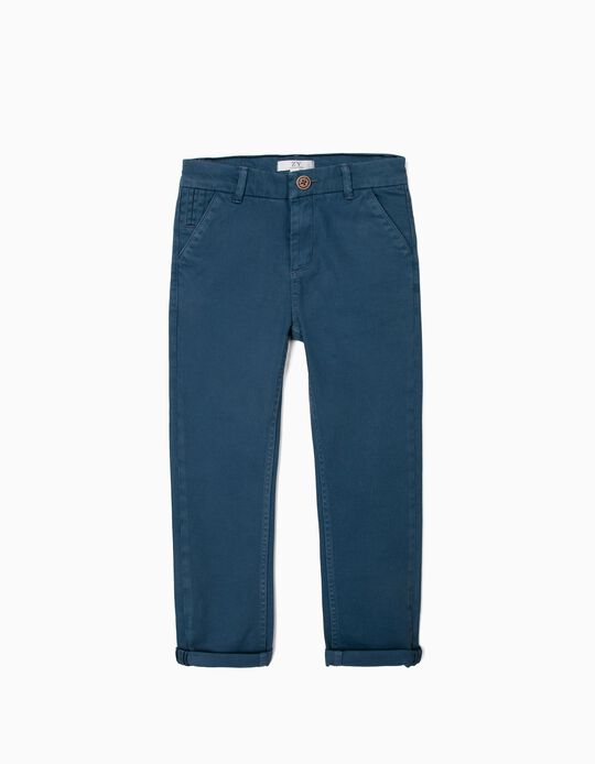 Chinos for Boys, Blue