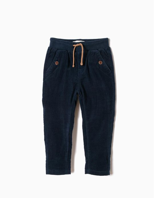 Pantalón de Pana Azul