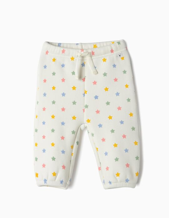 Trousers for Newborn Girls 'Stars', White