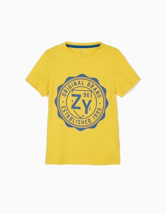 Camiseta para Niño 'ZY 96', Amarilla