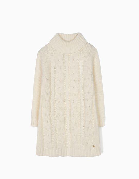 Vestido de Punto Niña Blanco B&S
