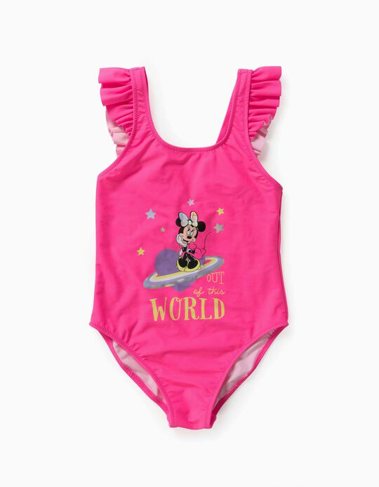 Swimsuit for Girls, 'Minnie Mouse Out of This World', Pink