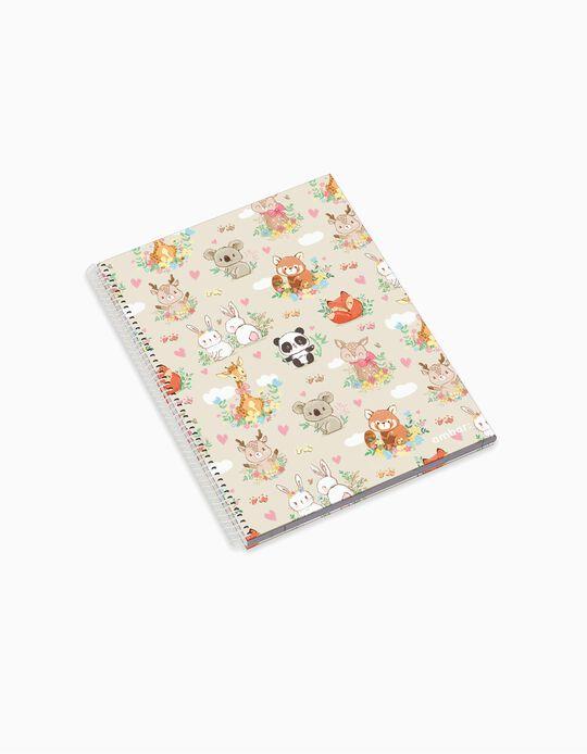 Cuaderno Espiral A4 Cuadriculado 'Ambar Pets Friends Woodland', Surtido