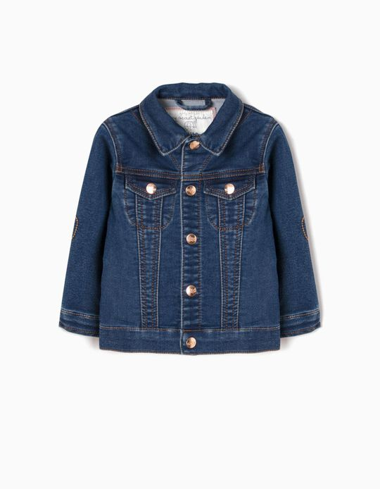 Denim Jacket for Baby Girls 'My Secret Garden', Dark Blue