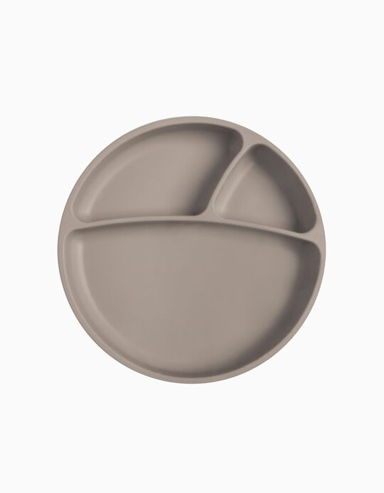 Assiette Minikoioi grise 6M+