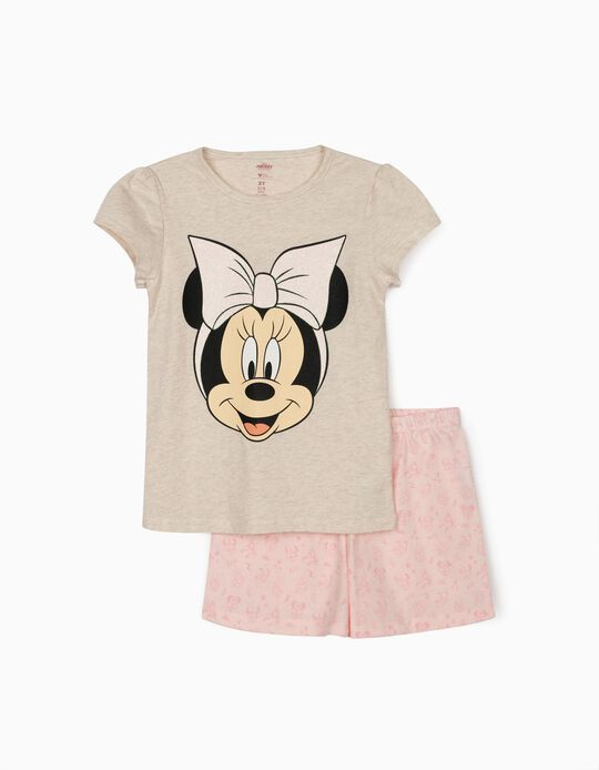Pyjama fille 'Minnie', beige/rose