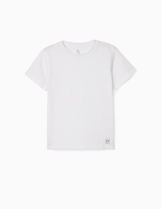 T-Shirt for Boys, White
