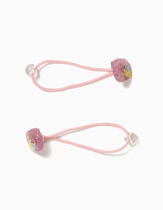 2 Elásticos de Cabelo para Menina 'Disney Princess', Rosa