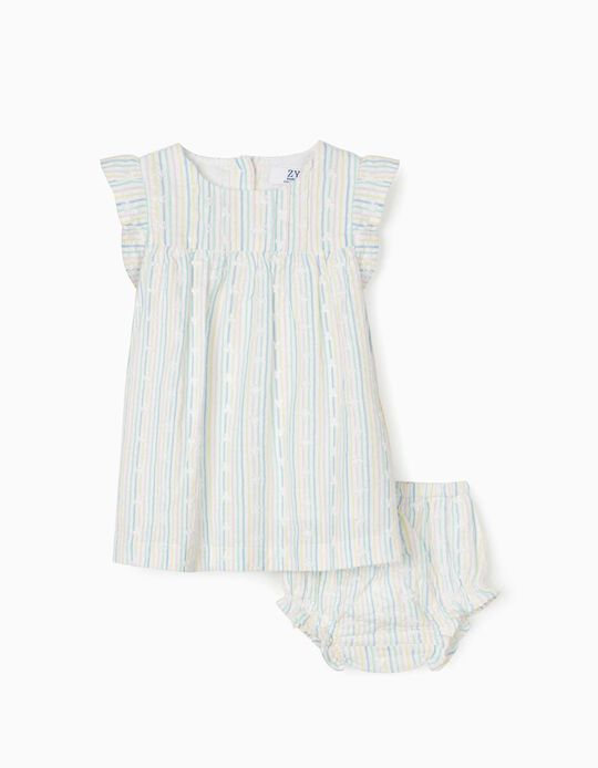 Dress & Bloomer Shorts, Stripes, for Newborn Baby Girls, Multicoloured