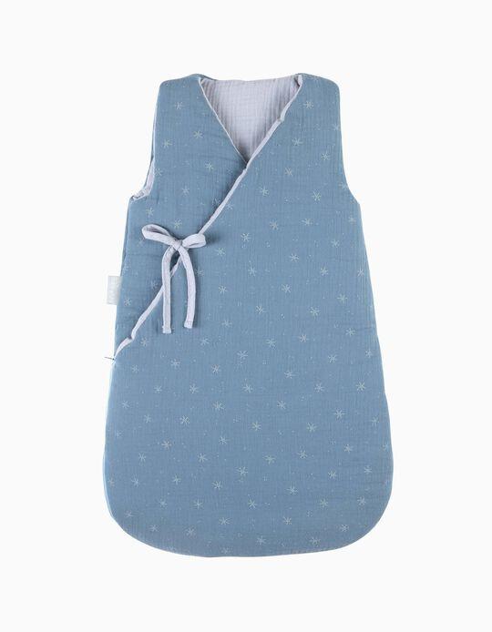 Saco De Dormir 70Cm Musselina Stars Blue