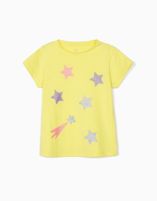 T-shirt for Girls 'Stars', Yellow