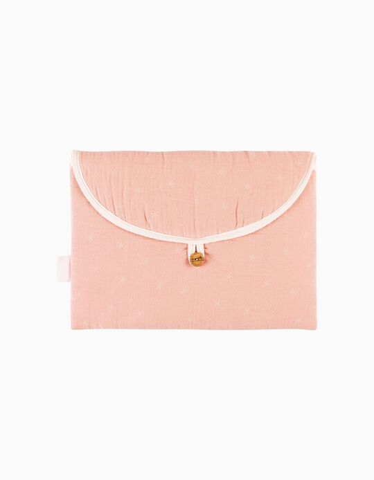 Saco 1ª Roupa Musselina Stars Pink