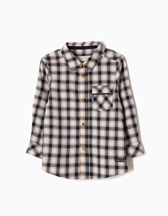 Camisa Ajedrez con Bolsillo