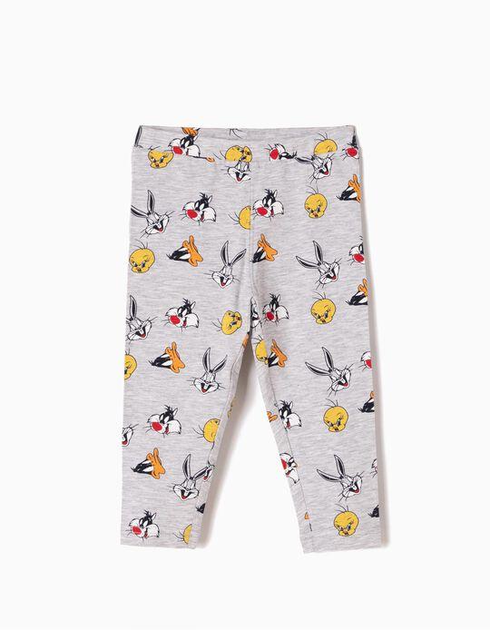 Leggings Looney Tunes Cinzentas