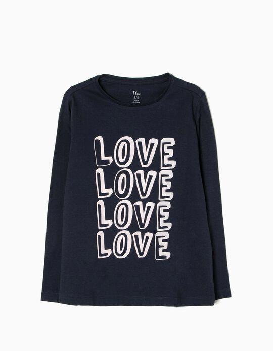 T-shirt Manga Comprida Love