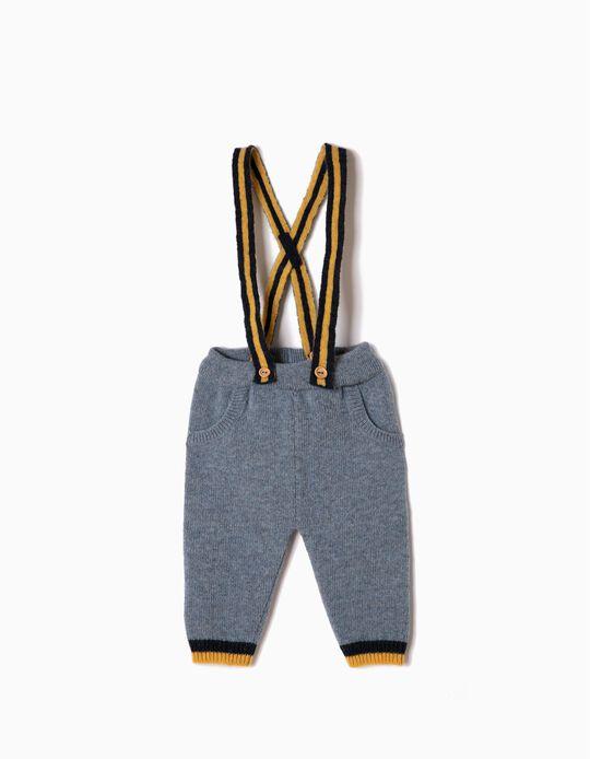 Pantalón de Punto con Tirantes
