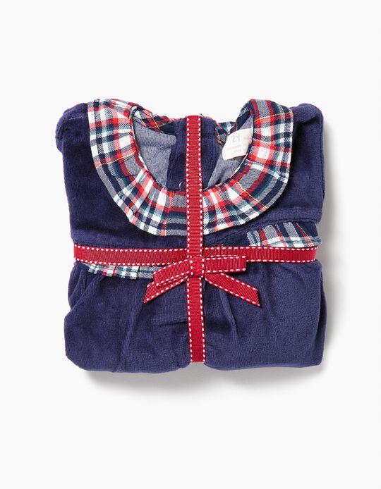 Pijama de dos Materias para Bebé Niña