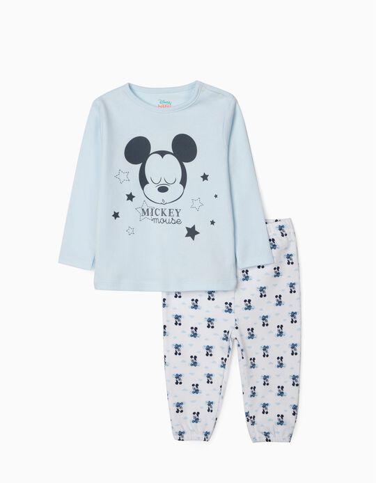 Pyjama bébé garçon 'Mickey', bleu/blanc