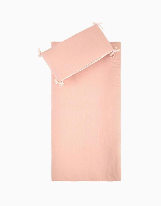 Edredão Musselina Stars Pink