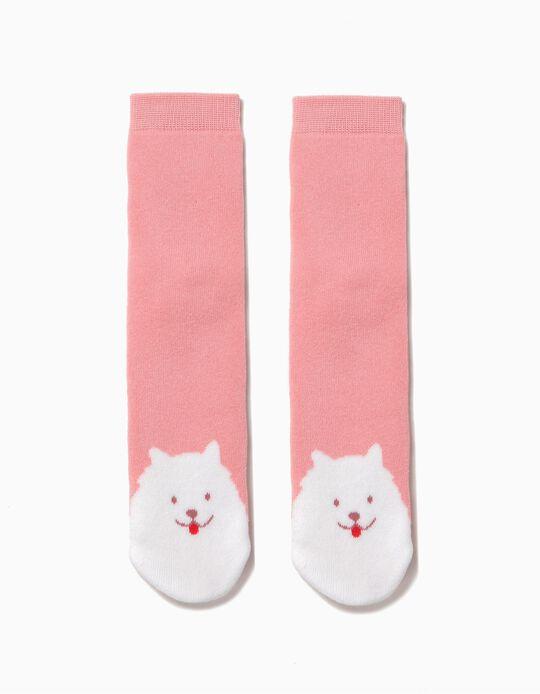 Calcetines Antideslizantes Dog Rosa