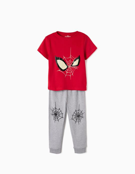 Pijama Manga Corta para Niño 'Spider-Man', Rojo y Gris