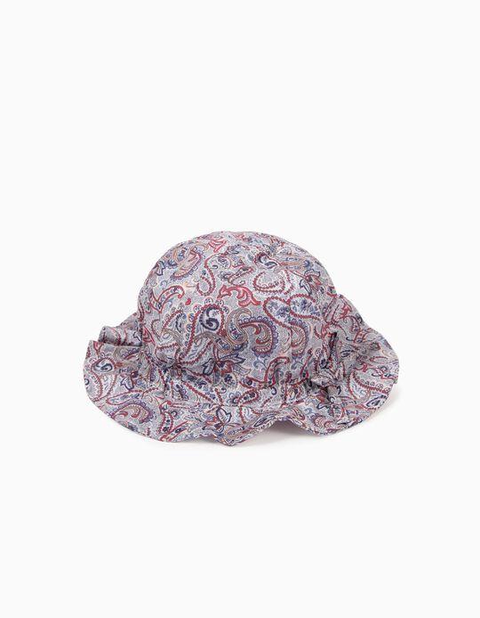 Sombrero Estampado para Niña, Multicolor