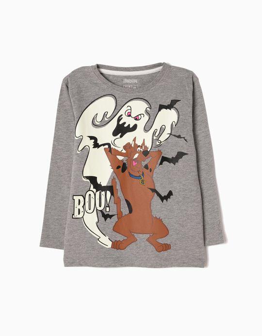 Camiseta de Manga Larga Scooby-Doo Gris