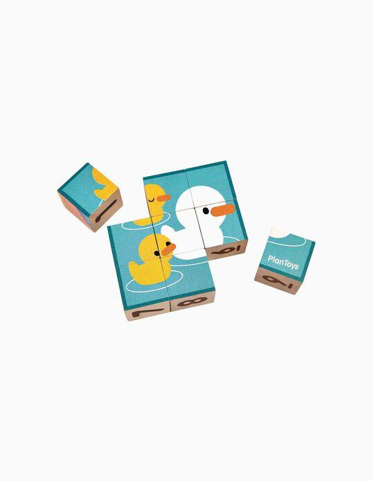 Puzzle Cubos Plan Toys 2A+