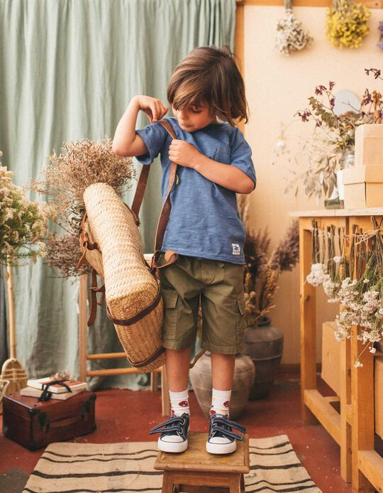 T-shirt with Pocket, for Boys, Blue