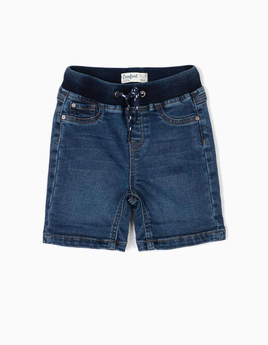 Shorts for Baby Boys 'Comfort Denim', Dark Blue