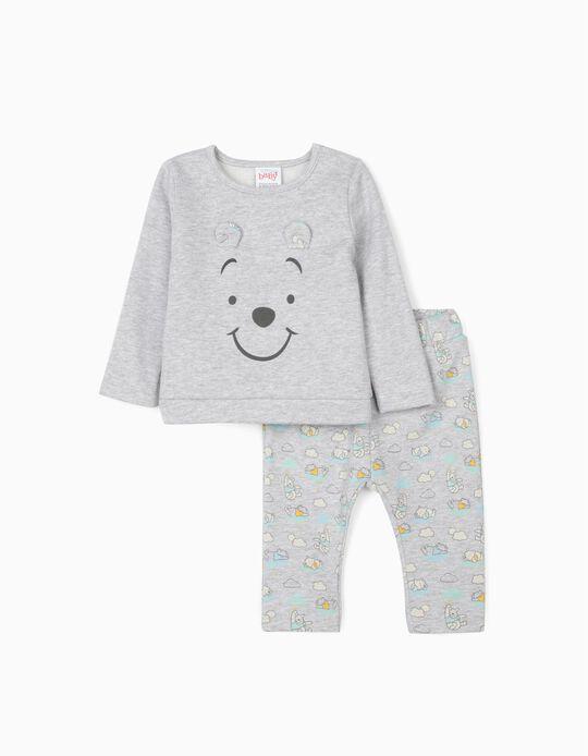 Survêtement nouveau-né  'Winnie l'ourson', gris