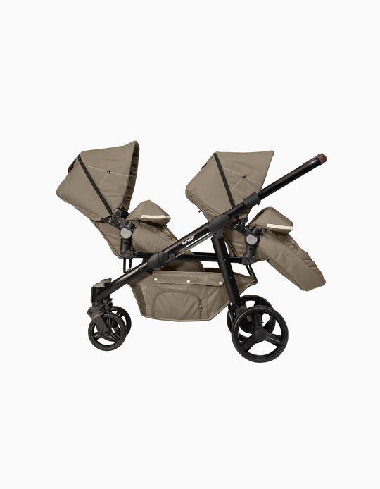 Ovo Twin Premium Stroller by Brevi, Tórtola