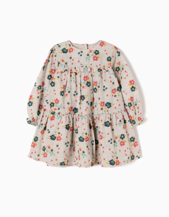 Vestido Bebé Niña Flores y Volantes