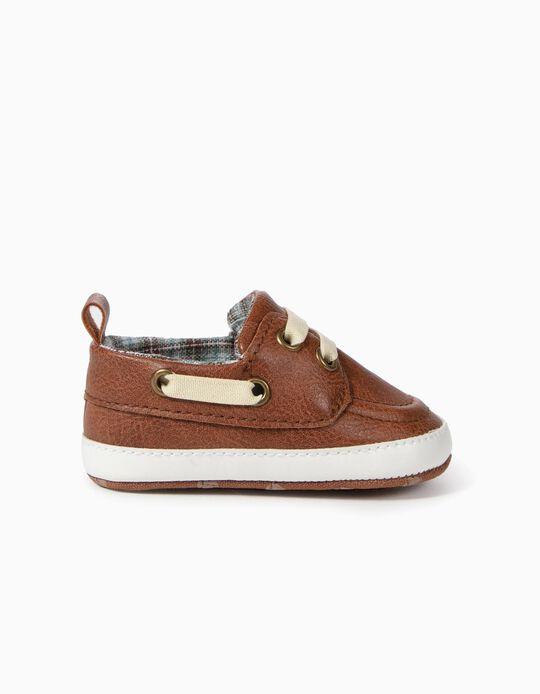 Sapatos para Recém-Nascido, Castanho