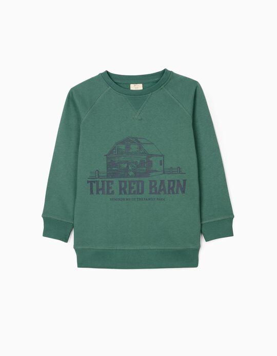 Sudadera para Niño 'The Red Barn', Verde