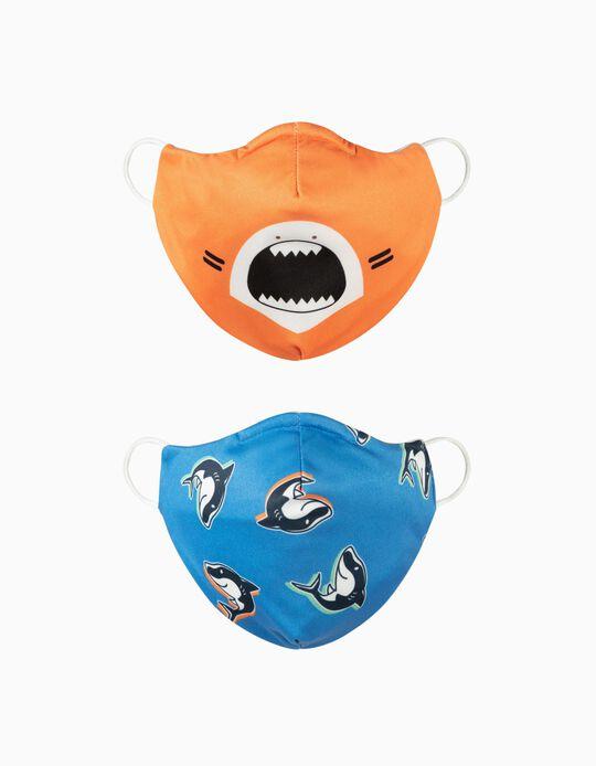 2 Máscaras Criança 'Air' - Nível 3, Tubarões