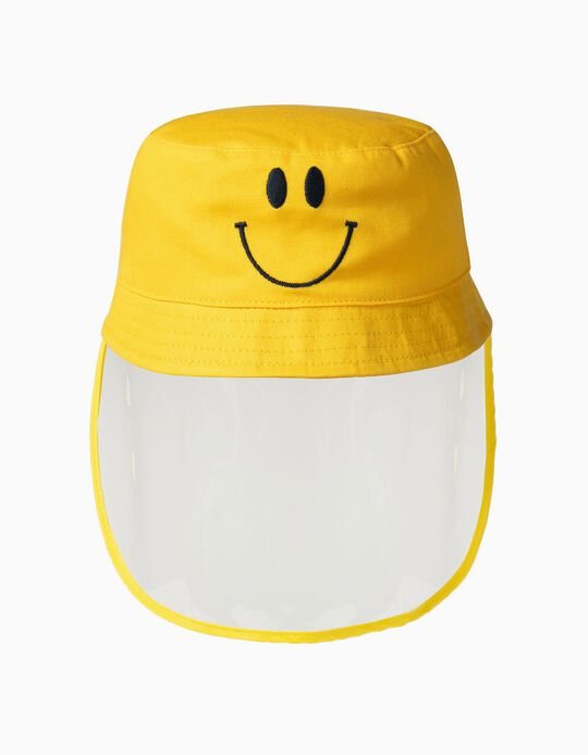 Hat withTPU Visor 'Smile', Yellow