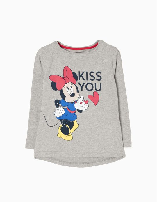 T-Shirt Manga Comprida Kiss Minnie