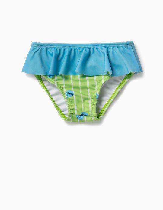 Bañador Culetín para Bebé Niña 'Be Kind', Verde y Azul