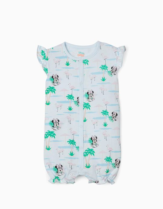 Sleepsuits for Baby Girls, 'Minnie', Light Blue