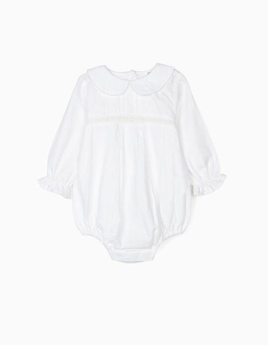 Bodysuit Blouse for Newborn Babies, White