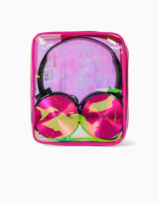 Headphones for Kids, Pink/Black